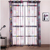 Home decorative curtain new york pattern sheer fabric eyelets curtain