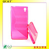 stylish tpu gel case cover for M4 Aqua E2303 with s line gel case