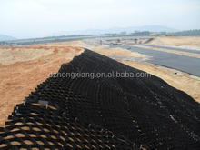 textured hdpe geocell/Perforated Geocell/hdpe geo web system used in road constructions