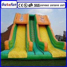 kids inflatable games commercial wet and dry factory offer double lane wet inflatable slide