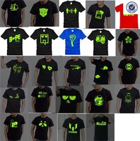 Pure Cotton led flashing t-shirts,led glowing t-shirt,custom led t-shirt