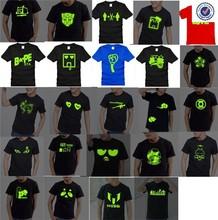 Pure Cotton led flashing t-shirts,led glowing t-shirt,custom led t-shirt