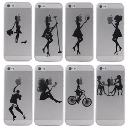 Ultra Thin Hard PC Case Cover for Apple iPhone 5 5s Mobile Phone Bag for iPhone 5 s Logo Clear Fashion Pretty City beauty Girls
