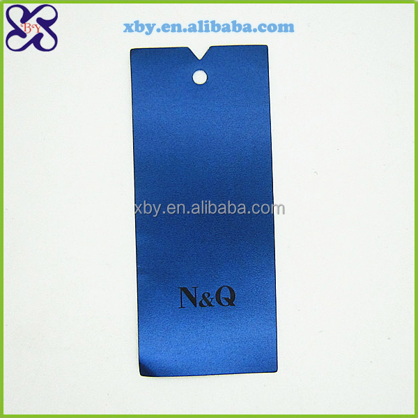 Garment craft hangtag with string jeans paper hang tag