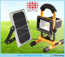 50W Solar Panel Charging LED Work Light, Portable Flood Light, Samsung li-ion Battery, rechargeable, Bridgelux LED Chips