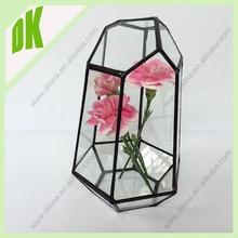1940s Imperial Glass Pattern 282 / Vintage Wedding Glassware / 1940s Depression Pressed Glass Vase Geometric glass egypt vase