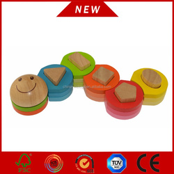 kids wooden toy, children wooden puzzle, playable wooden blocks with flower shape