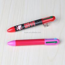 High quality heat transfer print metal ball pen 4 in 1 multi-color pen