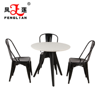 coffee dining metal chair and tables