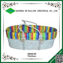 Natural straw maize baby crib baby bassinet