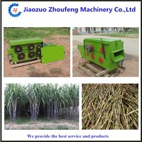 high capacity commercial Bending cane peeling leaf machine (whatsapp:008613782789572)