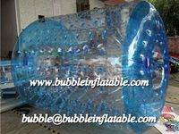 clear blue 100% PVC water roller, inflatable water wheel, inflatable water games