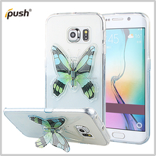 Butterfly design stand TPU case cover for Samsung S6