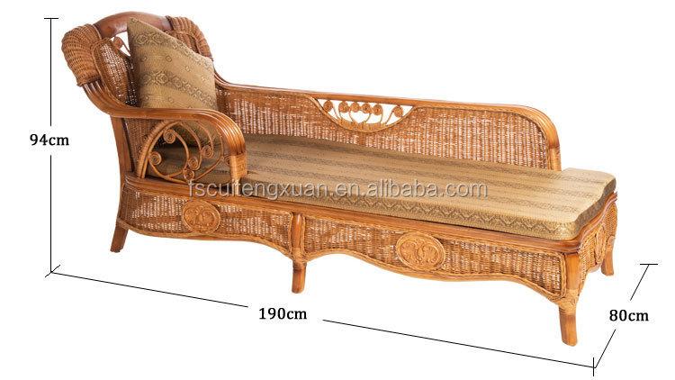 klassieke indonesische natuur rotan slaapbank bed slaapkamer