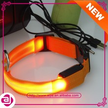 Promotional LED dog retractable dog collar leash