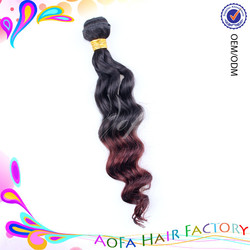 High Quality Products Alibaba Express wholesale malaysian colored two tone hair weave human hair,two tone ombre colored hair wef