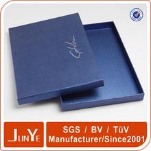 Cardboard paper t-shirt packaging flat pack gift box for shirt designs