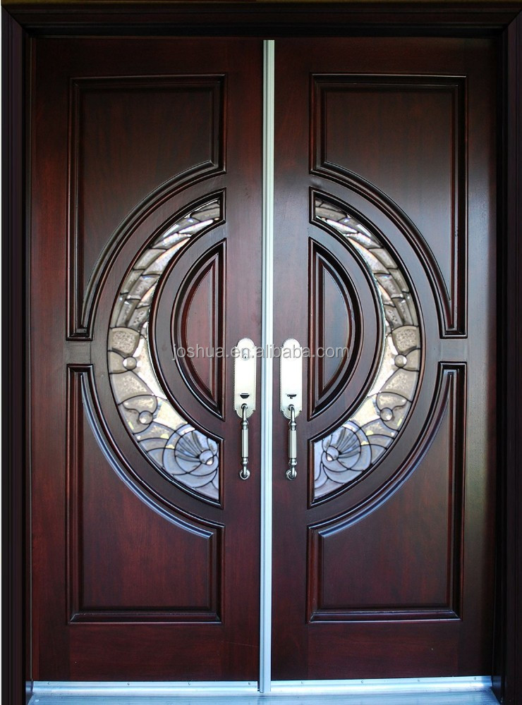 100 mahogany tiffany wood door double entry door buy for Double door wooden door