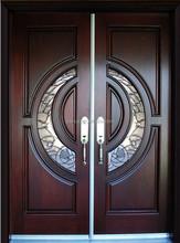 100% Mahogany Tiffany Wood Door double entry door