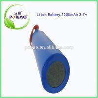 China 18650 1S1P 3.7V Lithium Battery Pack 2.2Ah