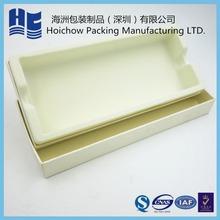 China golden supplier custom made velvet insert cosmetic gift packing box