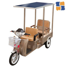 2015 hot sell three wheel 60V solar electric battery operated tricycle, rickshaw passenger tricycle for India
