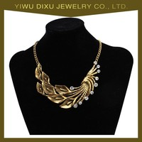 Fashion jewelry in yiwu maeket,Zinc Alloy design simple gold chain necklace 2015 for women 3 color wholesale.
