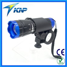 Bike Mount 200 Lumens Zoom Adjustable LED Flashlight