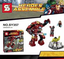 SY The avenger figures blocks iron and h ulk building blocks big size super hero SY357
