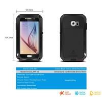 S6 Popular Lovemei Mobile Phone case Aluminum Metal Waterproof Shockproof Dustptoof Case For Samsung Galaxy S6