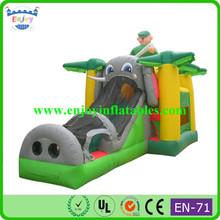 animal theme inflatable elephant combo/ custom inflatable combo/ inflatable slide jumper combo bouncer inflatable