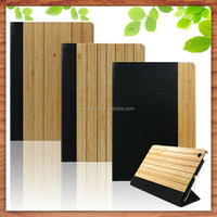 wholesale gift for bamboo leather back cover case for ipad mini
