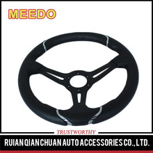 Black deep dish steering wheel race