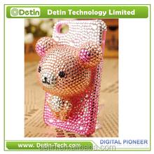 Bear Dog Cat cartoon diamond-studded mobile phone case for iphone 6 6s plus