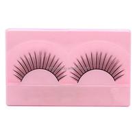 2015 Good looks Synthetic False Eyelashes black color/korea natural false eyelashes