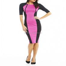 2015 Wholesale cheap elegant ladies office dress knee-length pencil women office dress
