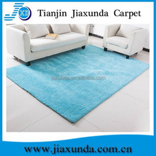 100% polyester light blue microfiber soft shaggy rug
