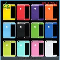 Colorful Glitter PET Full Body Sticker For iPhone6 Shinny Skin Sticker