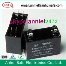4.7uf fan capacitor ceiling cbb61 40/70/21