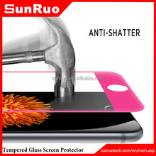 Full edge to edge colored border tempered glass screen protector for iphone 6