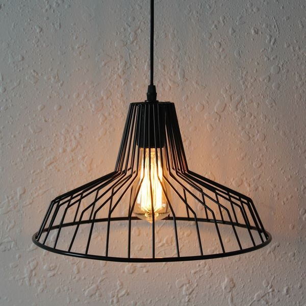 Iron wire pendant lamp for decorativecage pendant light buy img3719g aloadofball Choice Image