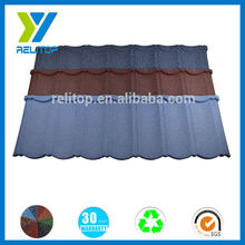 Sand coated cheap cost 0.4mm steel roofing tile