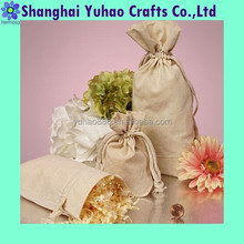 Double-knotted cord muslin cotton bags for wine packaging