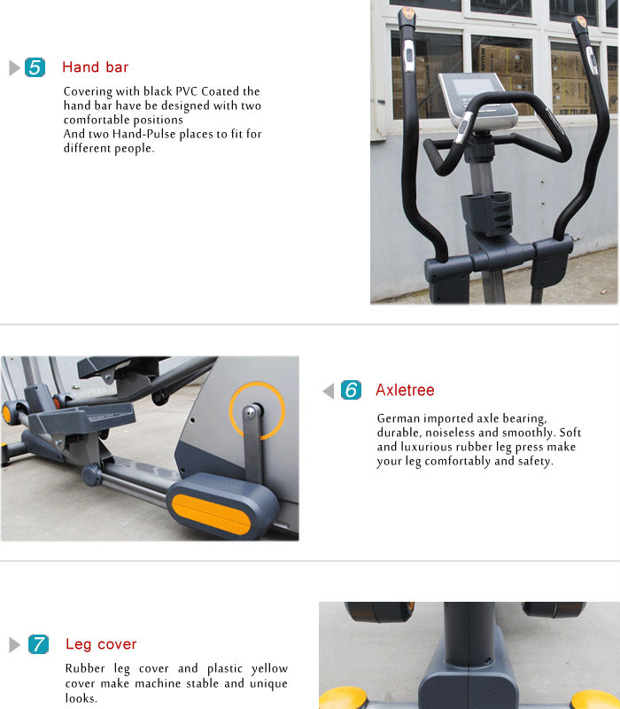 BCE203 Luxurious Commercial Elliptical trainer new design elliptical cycle