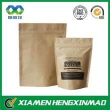 ziplock kraft paper bag, take away paper food bags,custom logo printing