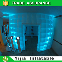free ship 9.8ft Led light up inflatable cheapest photo booth rental