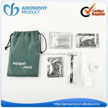 High quality amenity kits Simple drawstring hotel shaving kit for men