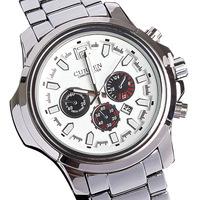 Hot sale CURREN brand watches authentic fashion unique design steel table 10 meters waterproof calendar male table quartz watch