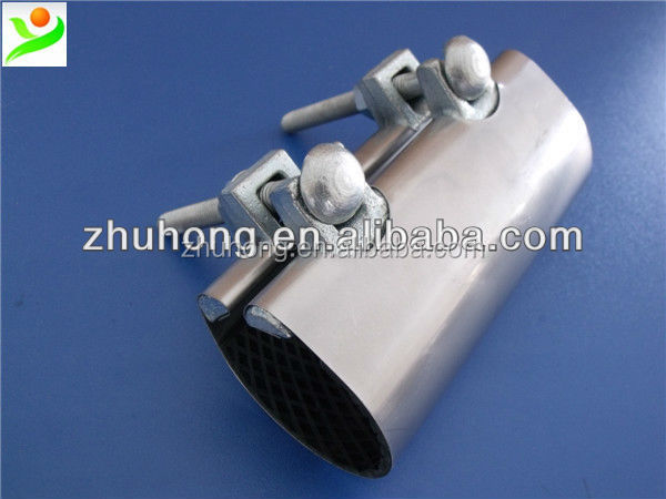 Small bore full stainless steel repair clamp dalian