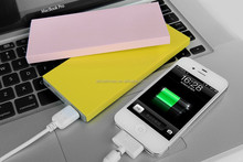 2015 new plain color rubber 8000mah High Quality Power Bank,Ultra Thin Power Bank,Charger